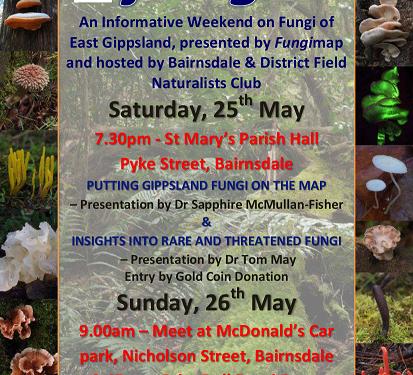 Bairnsdale Fungi Talks – a Fungimap CVA project